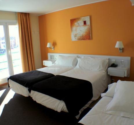 Triple room with ski slopes views